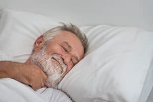 senior man able to sleep without problems